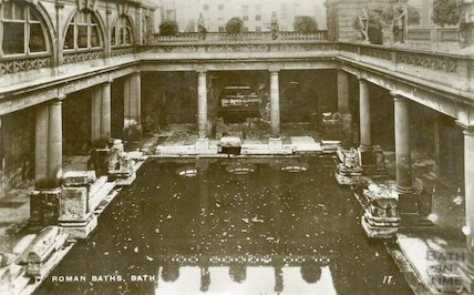 Roman Great Bath looking East, c.1930
