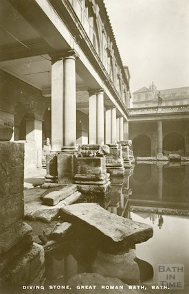 Roman Great Bath looking East, c.1920s