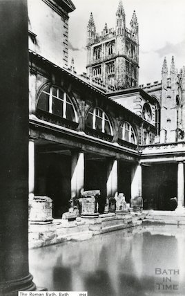 Great Bath and Abbey, c.1950s