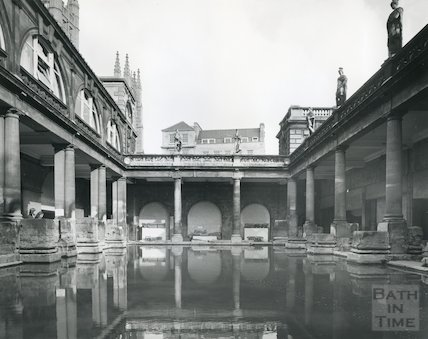 Roman Bath looking North East 1975/6