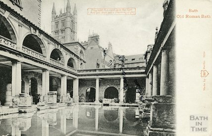 Roman Bath looking North East, c.1906