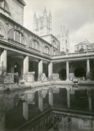 Roman Bath looking north east, c.1930