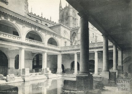 Roman Bath looking north east, Bath 1897
