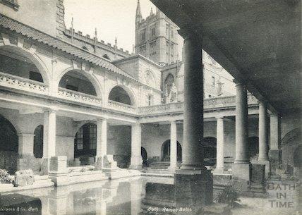 Roman Bath looking north east, Bath 1897