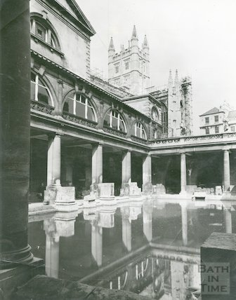 Roman Bath looking North East, September 1952