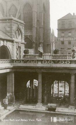 Roman Baths, Great Roman Baths looking North East, c.1930s