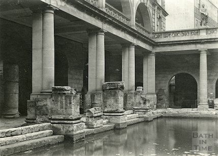 Roman Bath looking North East c. 1925