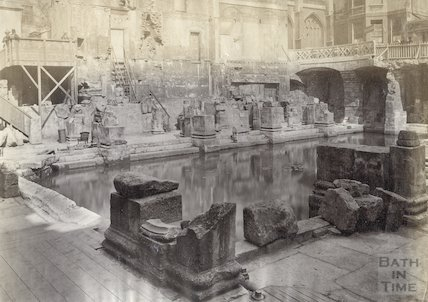 Roman Bath looking North East, c.1880s