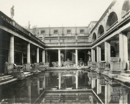 Roman Baths from East End. c.1930s