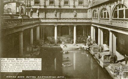 Roman Baths looking West, c.1910