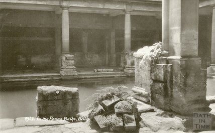 Roman Bath looking South West, c.1942