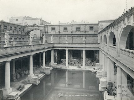 Roman Baths looking South West c. 1900