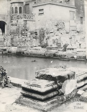 Roman Baths, Great Bath looking North West, c.1892