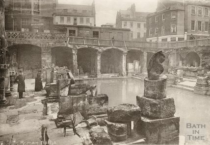 Roman Bath looking South East, c.1890s