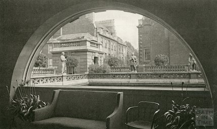 Roman Baths, terrace overlooking Great Roman Bath c. 1938