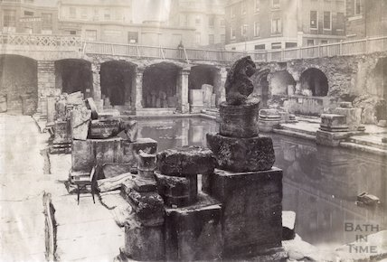 Roman Bath looking South East, c.1880s