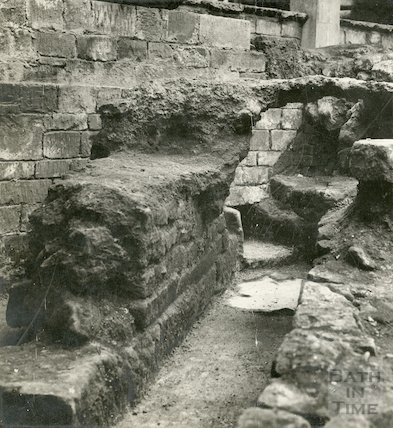 Roman remains at the Roman Baths - detail