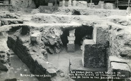 Roman Baths - an early bath c. 1930