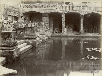An early view of the Roman Baths, c.1890s