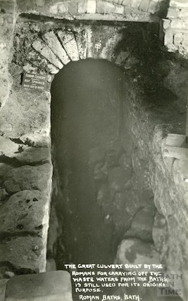 The Great Culvert, Roman Baths c. 1930