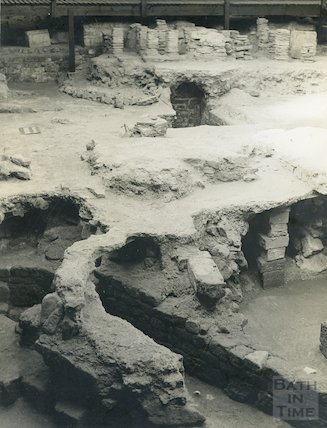 Roman Baths. Hypocaust and Culvert, 1938