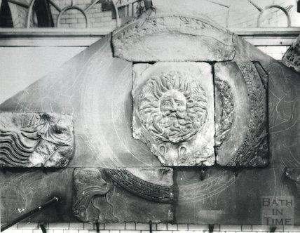 Gorgons Head - Roman Temple, Roman Baths, c.1907