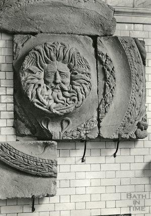 Gorgons Head - Roman Temple, Roman Baths, c.1900