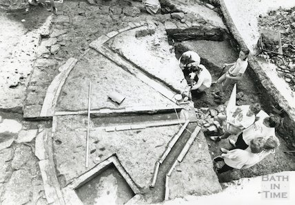 Excavations at Beau Street Baths, June/July 1989