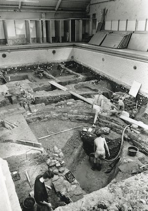 Excavations at Beau Street Baths, June/July 1990