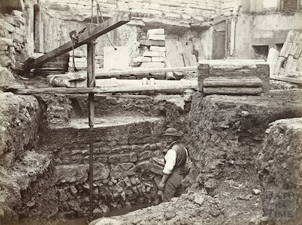 Excavations of the Prince Albert Wing for the Royal United Hospital, Hot Bath Street c.1864