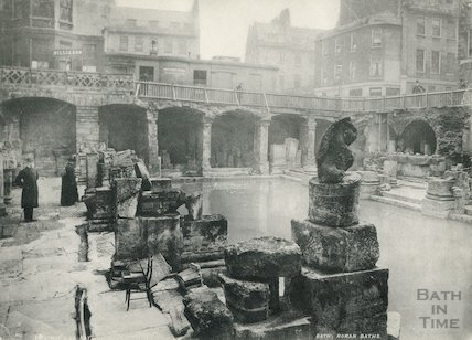 The recently discovered Roman Great Bath 1890