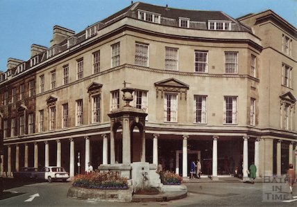 Mineral Water Fountain and Bath Street colonnade, c.1960s