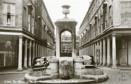 Mineral Water Fountain, Stall Street, Bath, c.1950s