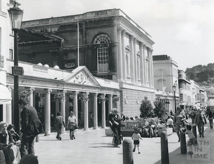 Pump Room Exterior - after renovation on the Stall Street elevation, c.1971