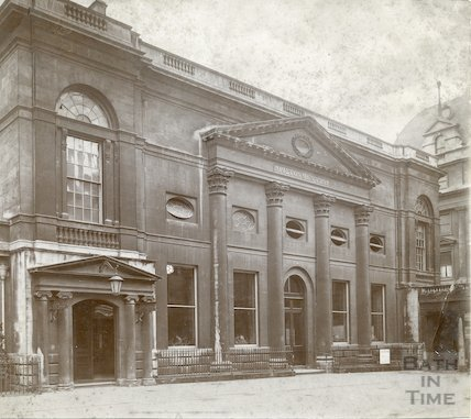 Pump Room Exterior facade from Abbey Churchyard, c. 1900