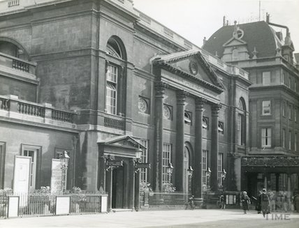Pump Room Exterior from Abbey Churchyard, c.1930s