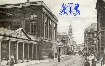Roman Baths, Stall Street side, seen from the North, c.1910