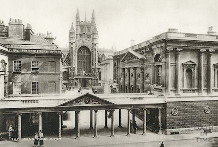 The Grand Pump Room, viewed from the Grand Pump Room Hotel, c.1910