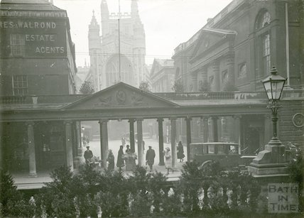 Pump Room, Colonnade and facade c. 1925