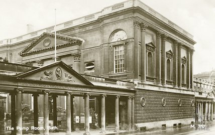 Pump Room, view of West end with Colonnade, c.1930s