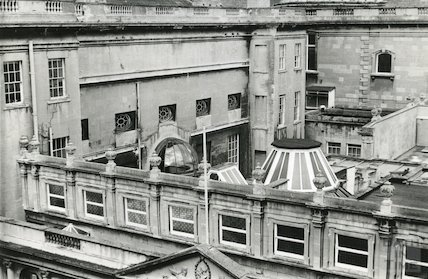 Pump Room, view of roofing (Stall Street) 1969