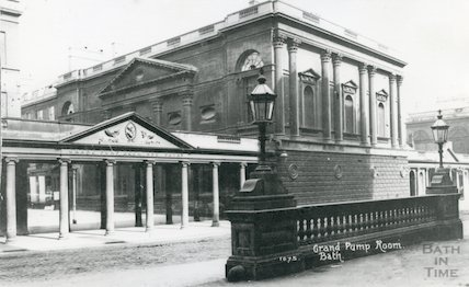 Pump Room and wall from the Grand Pump Room Hotel and Colonnade,  c.1915