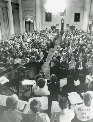 Carols by Candlelight in the Pump Room with the Bath Bach Choir 1983