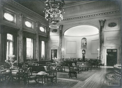 Pump Room interior looking towards doorway at North East Corner, c.1930s