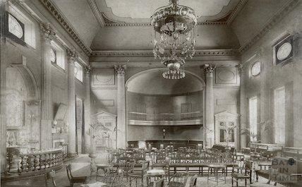 Pump Room interior showing chandelier c. 1910