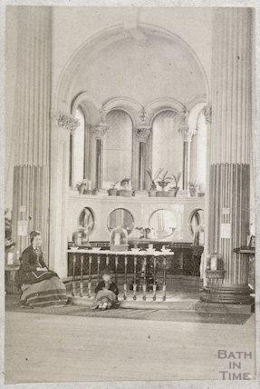 The mineral water fountain, Pump Room, Bath c.1870