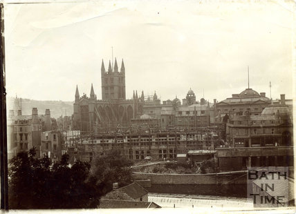 A fabulous view of the Empire Hotel being constructed, c.1899