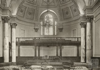 Concert Room in Pump Room, Bath, c.1920s?