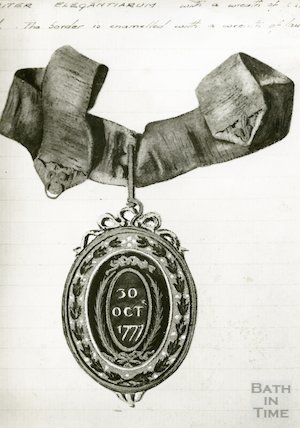 Drawing of the Pump Room Master of the Ceremonies Badge (reverse)