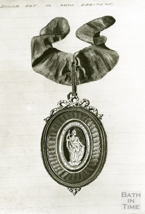 Drawing of the Pump Room Master of the Ceremonies Badge (obverse)